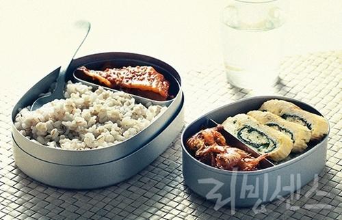 보리밥+달걀말이 + 새우 볶음+김치 볶음