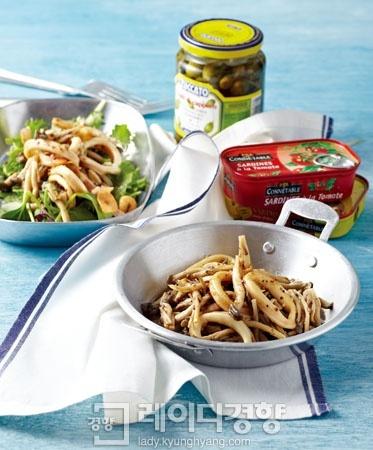 이탈리아식 오징어 버섯냉채