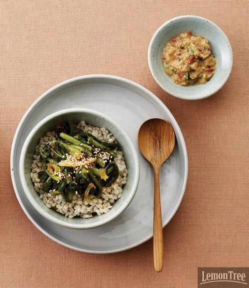 열무보리밥과 강된장