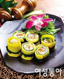 다이어트에 좋은 노란계란말이밥